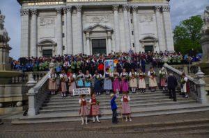 Gesamtchor - 500 Musikanten auf der St. Ursen-Treppe